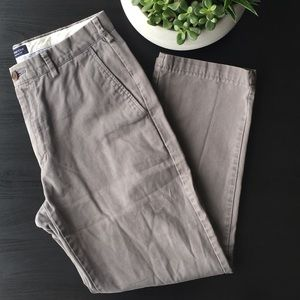 Lands' End Tailored Fit Grey Chino
